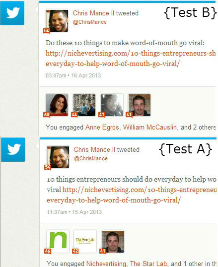 How to use Klout for A/B testing Twitter headlines and time of day viral sharing